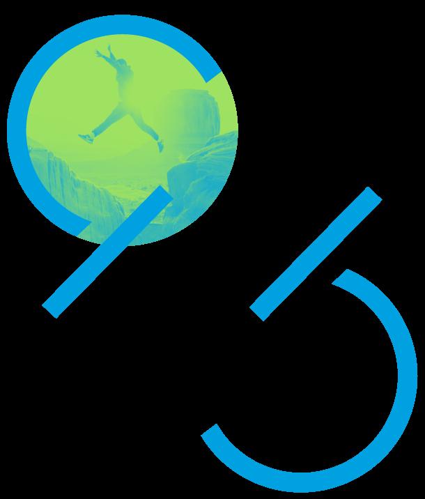 Iconografía de Mood 359 con un hombre saltando