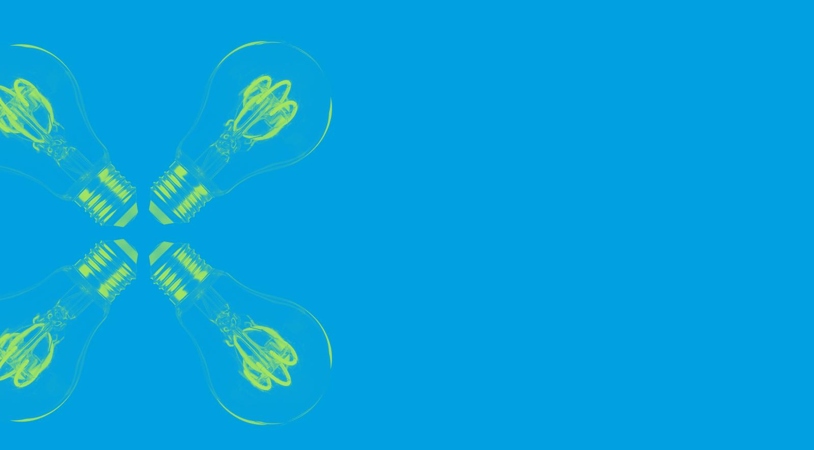 Fondo de bombillas azul y verde de la zona de por qué contar con Mood 359 como agencia de marketing online