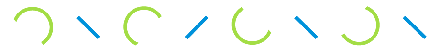 Símbolos de Mood 359 en azul y verde
