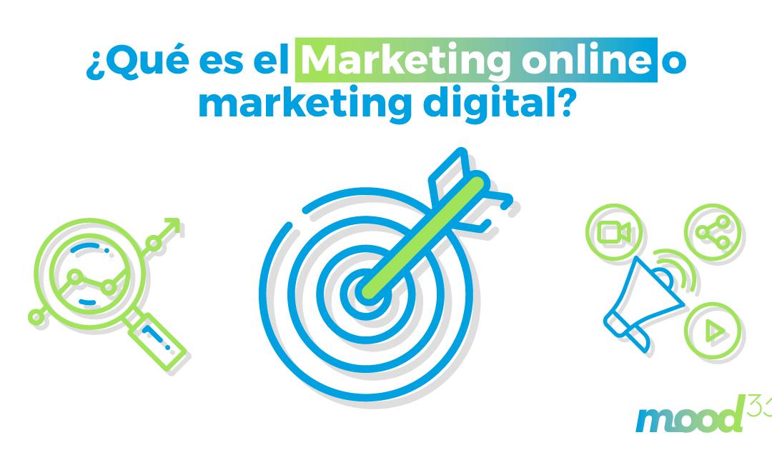 ¿Qué es el marketing online o marketing digital?