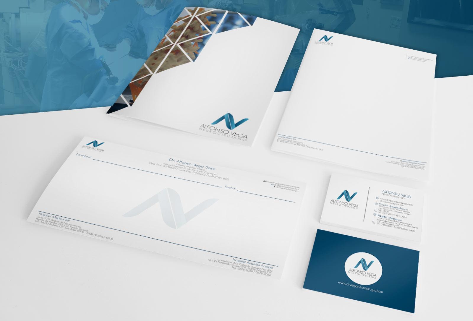 Diseño corporativo para el Dr. Alfonso Vega