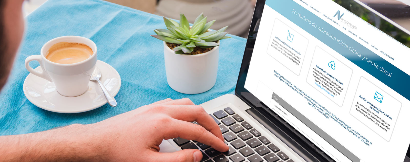 Diseño web a medida para el Dr. Alfonso Vega por Mood 359
