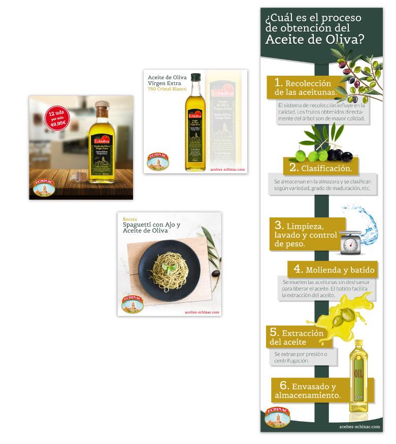 Diseño gráfico para Aceites Echinac