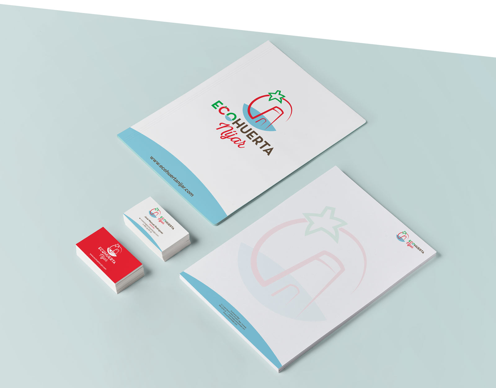 Diseño de papelería para EcoHuerta Níjar