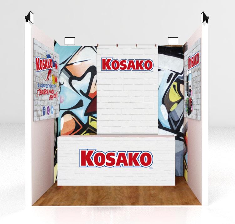 Diseño de stands para eventos para Grupo Kosako