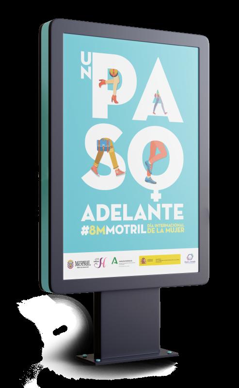 Cartel e imagen creada para el 8 de Marzo para el Ayuntamiento de Motril