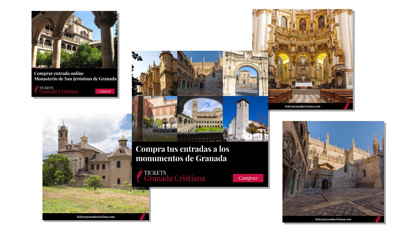Diseño gráfico para redes para Tickets Granada Cristiana